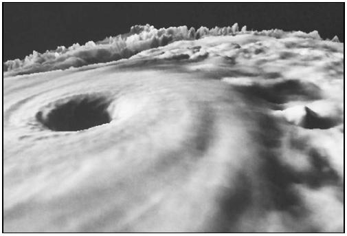 At their strongest, the winds of Diana reached 130 mph. (Courtesy of National Aeronautics and Space Administration (NASA).)