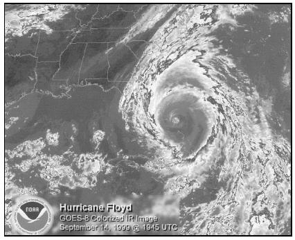 Hurricane Floyd, September 1999. (Courtesy of National Oceanic and Atmospheric Administration (NOAA).)