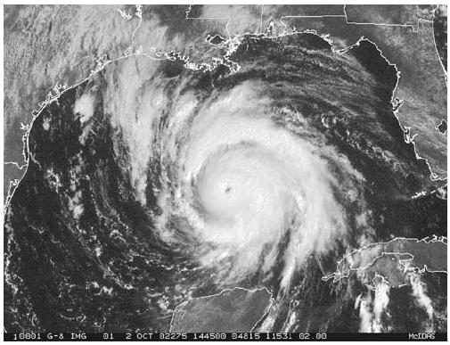 Hurricane Lili was the first hurricane to hit the United States in three years (Irene, October 1999). (Courtesy of National Oceanographic and Atmospheric Administration (NOAA)/National Environmental Satellite, Data, and Information Service (NESDIS).)