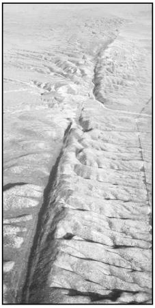 The San Andreas fault. (Photo by Robert E. Wallace. Courtesy of U.S. Geological Survey (USGS).)