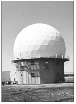 National Severe Storms Laboratory's first Doppler weather radar in Norman, Oklahoma. (Photo courtesy of NOAA Photo Library, NOAA Central Library; OAR/ERL/National Severe Storms Laboratory (NSSL).)